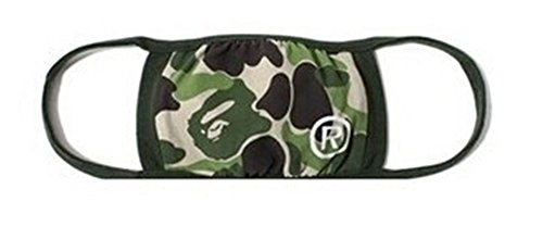Camping Hiking mask Scarves APE HEAD Embroidery Camouflage 1st camo milo camo flu winter face Mask (Green)