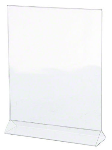Update International ACH-811 Acrylic Table Card Holder, 11-Inch