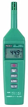 Reed C-315 Thermo-Hygrometer, -4 to 140 Degrees F Temperature Range, 0 to 100%RH Humidity Range