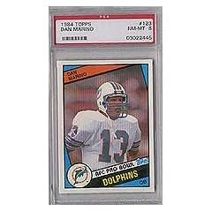Dan Marino 1984 Topps Rookie Card #123 Graded Near Mint to Mint PSA-8 by Topps