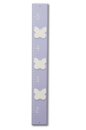 Homeworks Etc Butterfly Growth Chart, Lavender/White front-238207