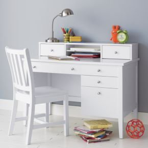 Cheap Kids Dressers: Kids White Blake Desk & Hutch (B004L5IZ4I)