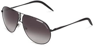 Carrera Ca44S Aviator Sunglasses,Matte Black Frame,Dark Grey Gradient Lens,One Size