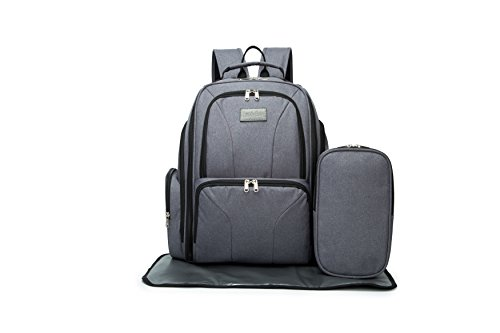 Diaper Bag Backpack - Best for Baby Care Items, Multi-Function Waterproof Diaper Backpack - Bonus Stroller Straps, Changing Pad and Insulated Pockets
