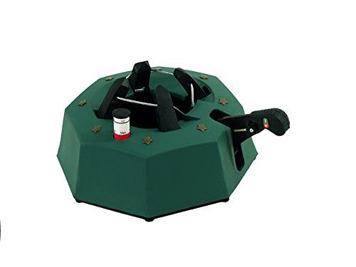 FHS M200 Christbaumständer Max 1 eckig, mit Fußhebelfunktion und Einseiltechnik, 1,8 Liter Wassertank, für Baumhöhe max. 2 m