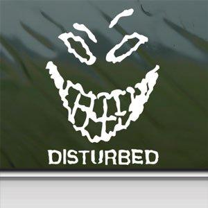 Disturbed White Sticker Metal Rock Band Laptop Vinyl Window White Decal