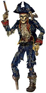 Life-Size Jointed Pirate Skeleton!