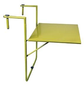 esschert design balkontisch klapptisch in gr n. Black Bedroom Furniture Sets. Home Design Ideas