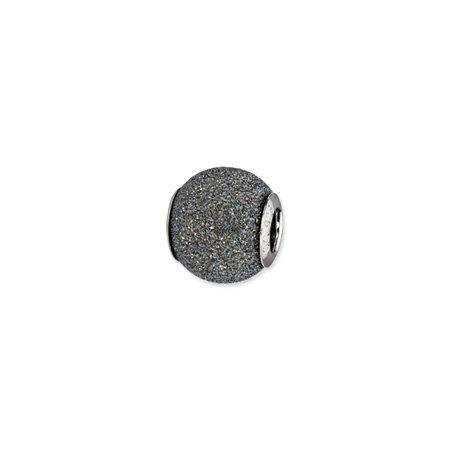 Grey Laser Cut Sterling Silver Charm