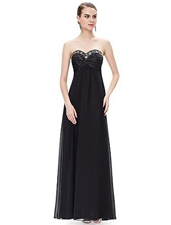 HE09568BK06, Black, 4US, Ever Pretty Wedding Party Dresses 09568