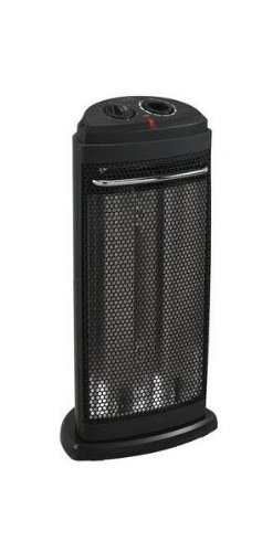 Duraflame DFH-IH-9-T Portable Electric Durable Dual Quartz Radiant Tower Heater, Black