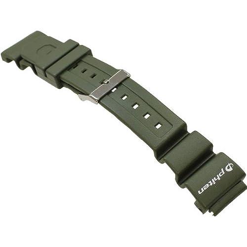 [밤비]BAMBI 시계 밴드 BAMBI × phiten 우레탄 피트 파트 18mm 20mm 22mm 24mm 사이즈 대응 군대 그린 BG800O-S-BG800O-S (2012-07-24)