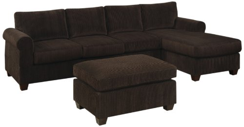 Deals bobkona tatum 3 piece reversible sectional with for Sofa set deals