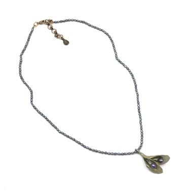 Hosta Pendant Necklace by Michael Michaud