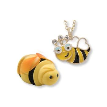 Set A Shopping Price Drop Alert For Bumble BEE Girls Kids Necklace Pendant in Shaped Gift Jewelry BOX