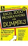 Excel 2000 Programming For Dummies (0764505661) by Walkenbach, John