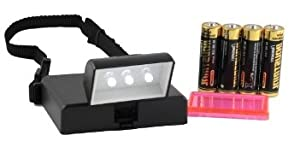 Beam N Read LED 3 Hands Free Travel Reading Light; for Kindle, Power Outages & More; Batteries Last 100 Hours; Includes a clip-on Red Relaxation Filter