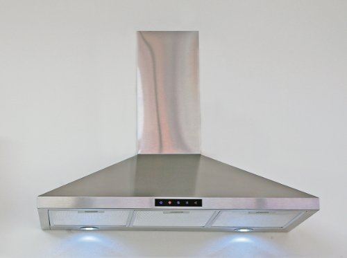 Kitchen Bath Collection 30-Inch Wall-Mounted Stainless Steel Range Hood With Touch Screen Control Panel, Capable Of Vent-Less Operation! High-End Led Lights -- More Than 3 Times The Brightness Of Competing Models!
