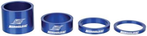 Straitline Components SC 1-18quot headset spacer kit blue - 4pc