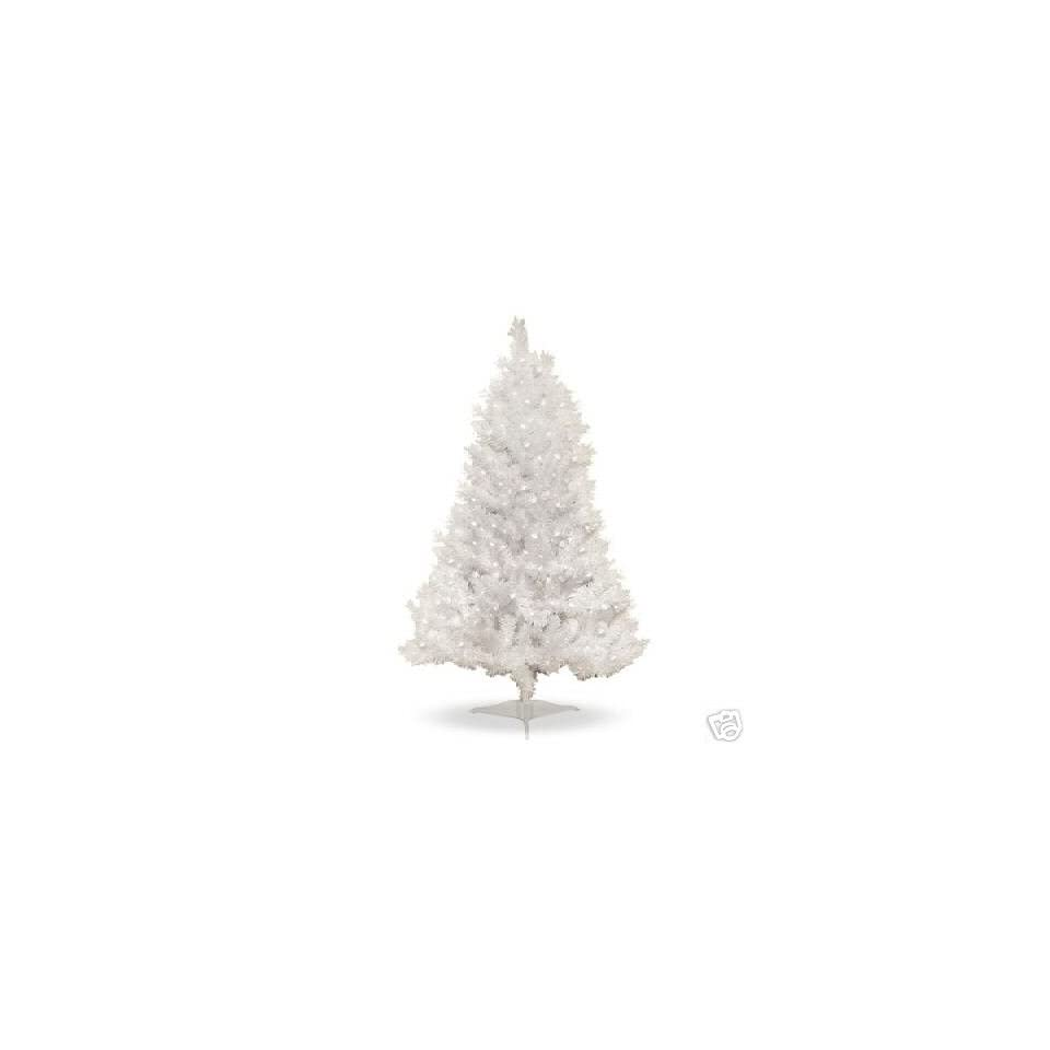 4 Ft. Pre Lit Clear White Indiana Spruce Artificial Christmas Tree