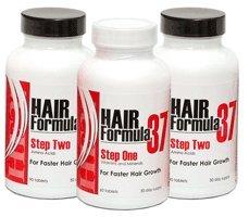 Hair Formula 37 hair vitamins for faster hair growth 3 pk.