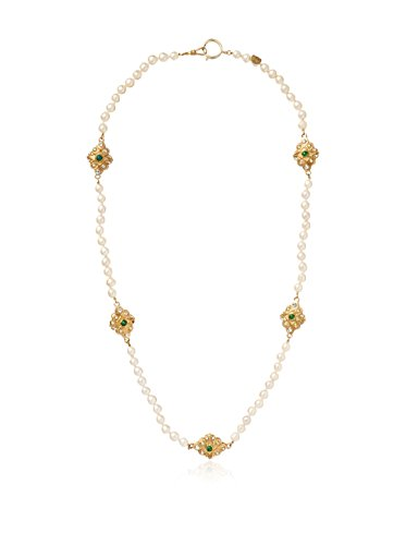 CHANEL Pearl & Crystal Sautoir-Styled Necklace