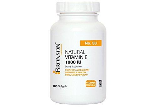 Natural Vitamin E - 1000 I.U. 100 Softgels