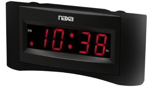 naxa electronics nrc 165 easy read dual alarm clock with built in usb device. Black Bedroom Furniture Sets. Home Design Ideas