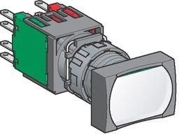 Schneider Electric Xb6Dw5B5B Switch, Industrial Pushbutton, 16Mm