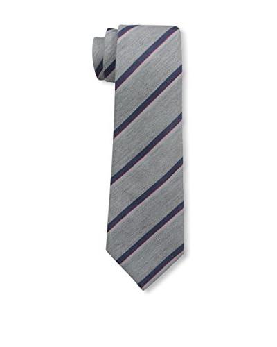 Valentino Men's Striped Tie, Grey