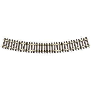 "Code 83 Nickel Silver 18"" Radius Snap Track (6/Bx) HO Scale Atlas Trains"