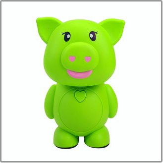 Cartoon Lovely Pig 16 Led Folding Table Lamp Personalized Bedroom Bedside Lamp Energy Saving Lamp Desk Lamp Reading Lamp Rechargeable Nigh Lamp Lovely Kid'S Night Light Eye Protection Lamp Home Decoration Lights(Green)