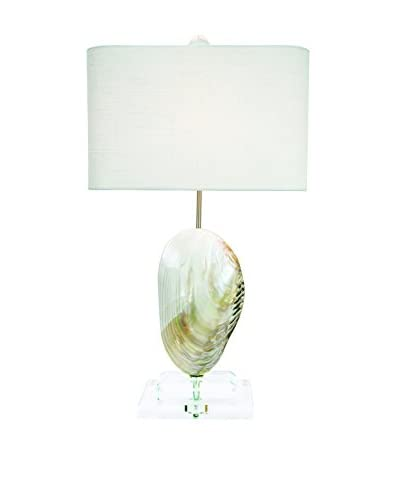 Couture Oceanside 1-Light Table Lamp, Natural Mother of Pearl