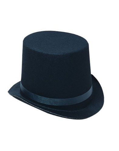 Deluxe Black Magician Butler Formal Costume Top Hat - 1