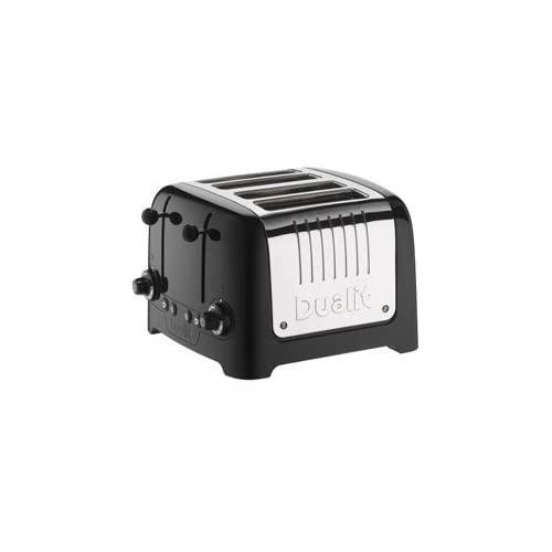 Dualit classic  Traditional Toaster 4 Slot Lite  in High Gloss Black Finish With Peek & Pop function - 46205