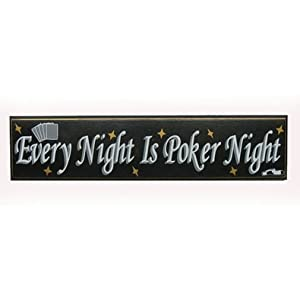 New Every Night is Poker Night Wood Sign