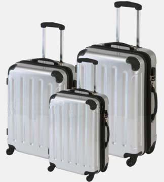 Trolley-Koffer-Set, 3-tlg., 75/65/55cm, SILBER,