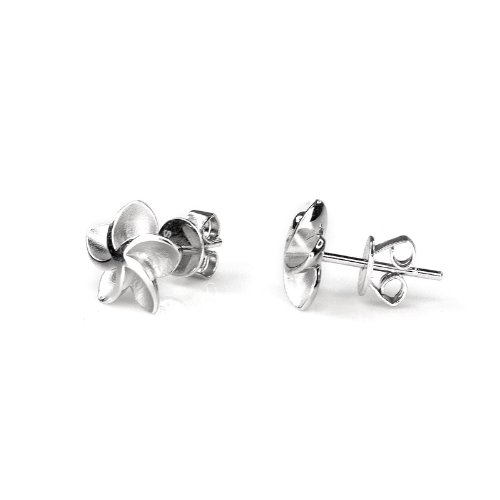 Platinum Plated 925 Sterling Silver Nautical Star Stud Earrings