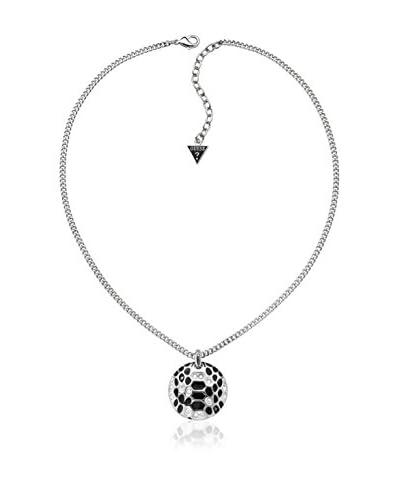 Guess Collar Ubn91322 Plata / Negro 45 cm
