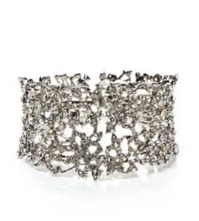Designsix Diamante & Crystal Cuff Bangle Silver coloured Bracelet Women's Accessory gift