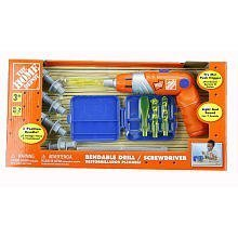 the home depot bendable drill screwdriver toy set toys games. Black Bedroom Furniture Sets. Home Design Ideas