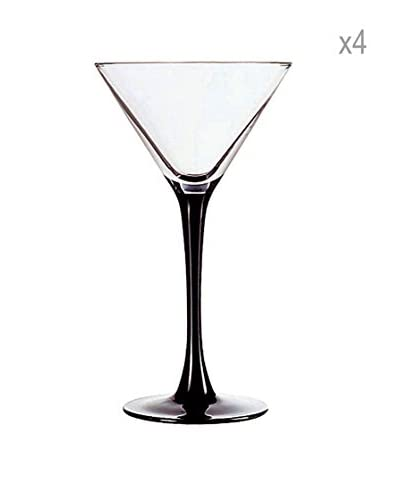 Luminarc Copas Cocktail Estuche 4 14 Cl Modelo Domino Noir