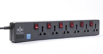 Elcom-6Socket-(6-Switches)-Spike-Guard