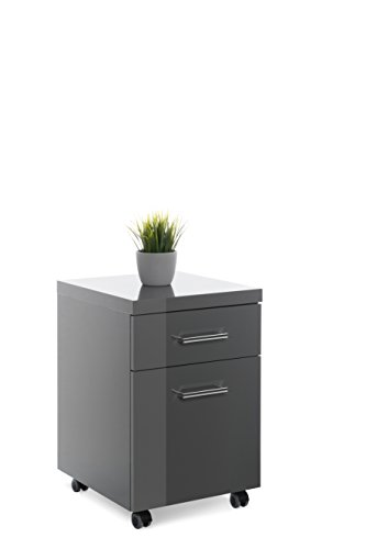 Intertrade-2045-Prima-Rollcontainer-MDF-40-x-60-x-45-cm-dunkelgrau-hochglanz