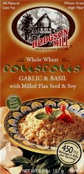 Hodgson Mill - Whole Wheat Cous Garlic Basil W/Flax Soy (Pack of 8)