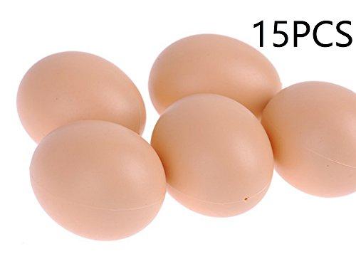 Plastica Falso Dummy Uovo strato di pollo Coop Cage Uova nido artificiale alimento falso Dummy Decorazione per la Casa 5PZ 10PZ 15PZ (15PZ)
