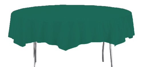 Creative Converting Octy-Round Paper Table Cover, 82-Inch, Hunter Green