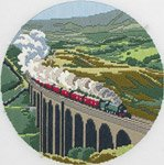 Long Stitch Kit - The Dalesman Steam Train - complete kit, all materials included