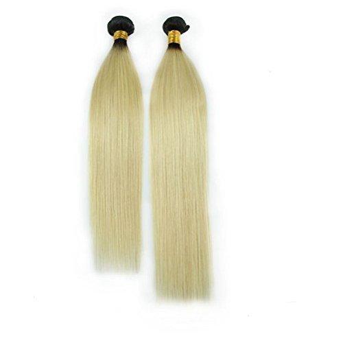 Hot-Queen-Virgin-Malaysian-Straight-Human-Hair-Extensions-T1b-613-Hair-Weave-2BundlesSet-200g