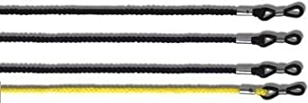 "4 PACK - 3 x Black 1 x Yellow - HEAVY DUTY Universal Glasses Cord For Spectacles & Sunglasses 23"" - Unisex by XT Accessories"